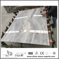 Grey Marble | Engineered New Vermont Grey Marble for Bathroom Wall & Floor Tiles (YQW-MS052702)