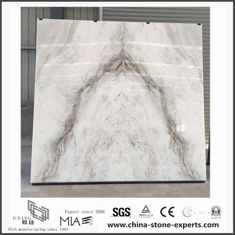 Custom New Arabescato Venato White Marble for Bathroom Vanity tops (YQW-MSA06052001)