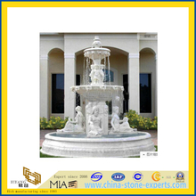 White Marble Fountain with Figure Sculpture(YQG-LS1008)