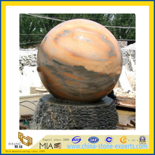 Marble Stone Ball Water Fountain for Outdoor Garden(YQC)