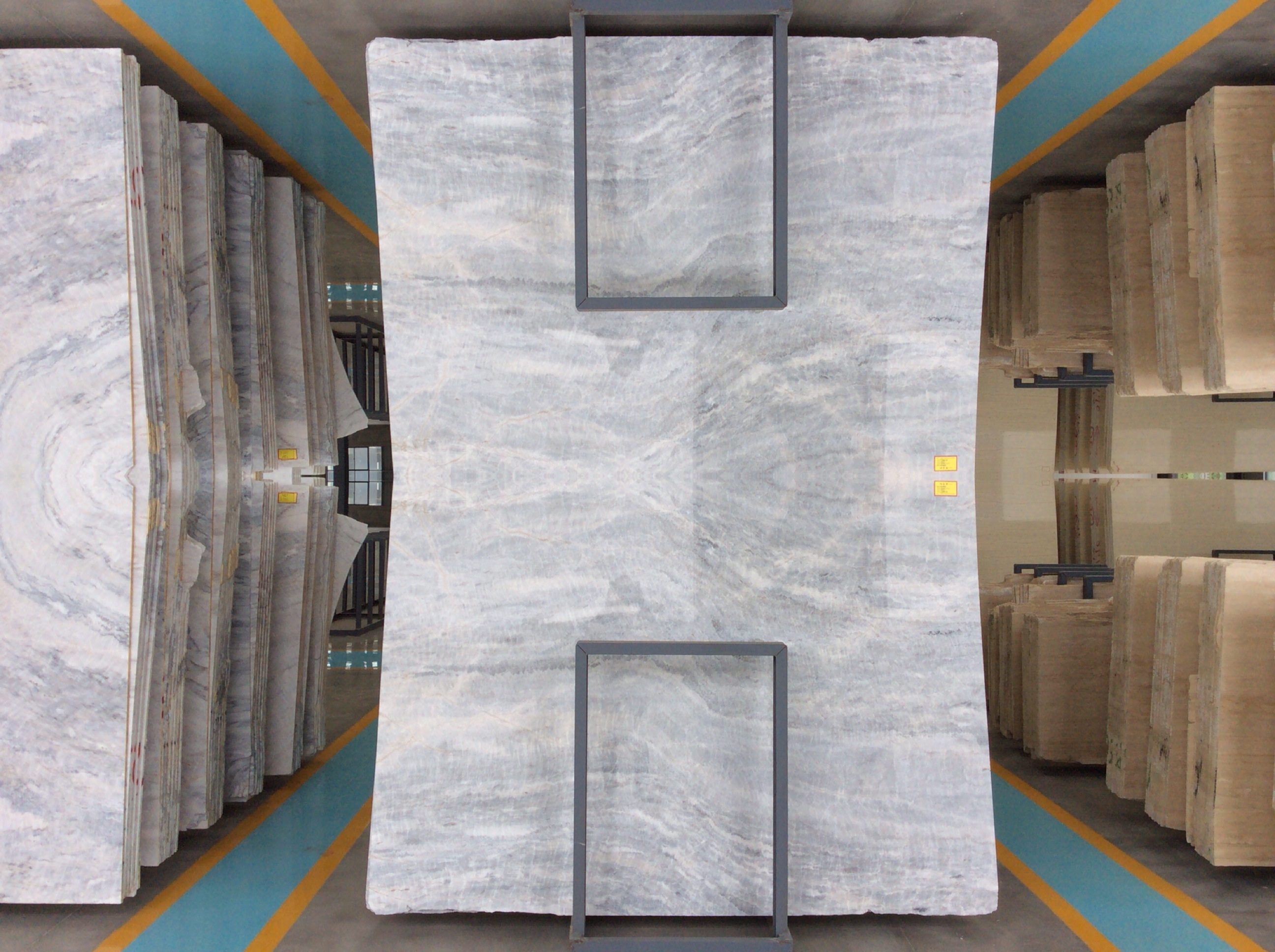 New Grey Marble -2cm Vermont Grey Marble Slabs for flooring and wall projects-YEYANG