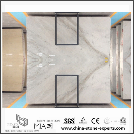 Beautiful Arabescato Venato White Marble Slabs for Bathroom Tiles (YQW-MSA061006)