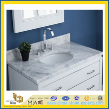 Italy White Cararra Marble Vanity Tops, White Marble Bath Tops (YQA-MC1011)
