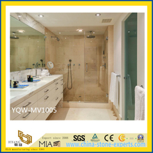 Polished White Carrara Marble Bathroom Vanity Top for Hotel