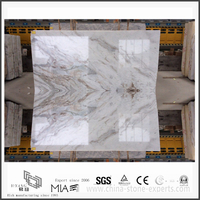 Charming New Arabescato Venato White Marble Slab for Bathroom Countertop (YQW-MSA21013)