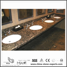 Durable Natural Baltic Brown Granite Vanity tops for Bathroom,Hotel (YQW-GC06051909)