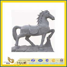 Cheap Granite Stone Animal Carving Sculpture with Horse(YQG-LS1045)
