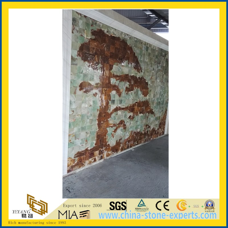 New Quarry BookmatchTraonyx Onyx Slab for Walling, Flooring (YQW-OS1001)