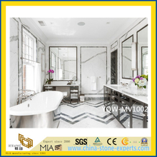 Polished White Marble Bathroom Vanity Top for Hotel