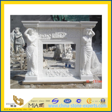 White Marble Fireplace with Lady(YQG-F1006)