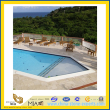 Swimming Pool Border Paver Tile, Travertine Stone Pool Surround Coping(YQC)