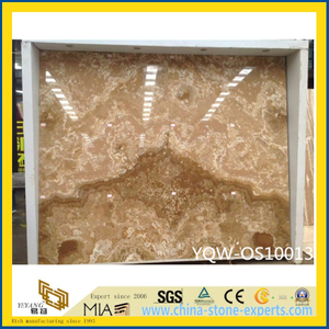 Beautifulpolished Yellow Onyx Stone Slab for Wall with Cheap Price