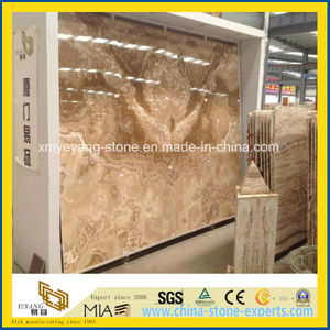 Polished Natural Yellow Onyx Slab for Background Wall