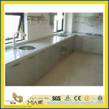 Pure White Polished Artificial Quartz Stone Countertop for Kitchen/Bathroom/Hotel