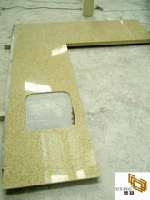 Golden/Yellow Quartz Kitchen Countertops Vanity Tops (YY-QC003)