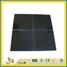 Natural Polished Absolute Black Marble Tile for Wall/Flooring (YQC)