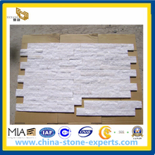 White Quartzine Culture Stone/ Cultured Stone for Wall Cladding
