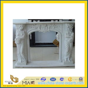 Designed Natural Stone Fireplace Mantle for Decoration(YQC)