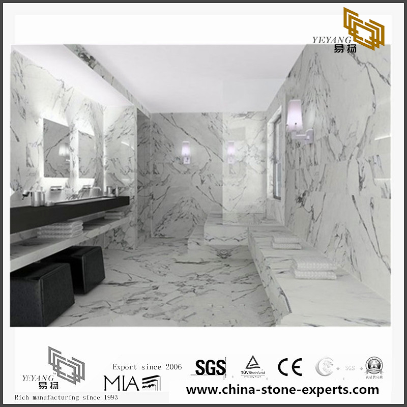 Beautiful Arabescato White Marble Stone for Wall Backgrounds & Floor Tiles(YQN-092601)