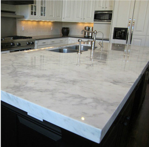 Crystal White Marble Countertop Project -YEYANG STONE FACTORY