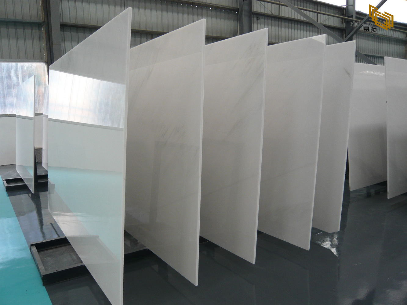 Top sale natural pure white marble slabs