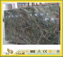 Polished Rain Forest Green Marble Slab for Constrution-Yya