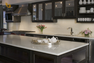 White Quartz Countertop Project