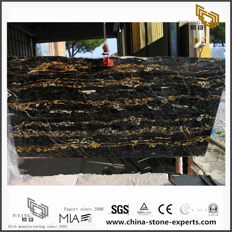 Custom Portoro Gold Marble for Wall Backgrounds & Floor Tiles (YQN-092804)
