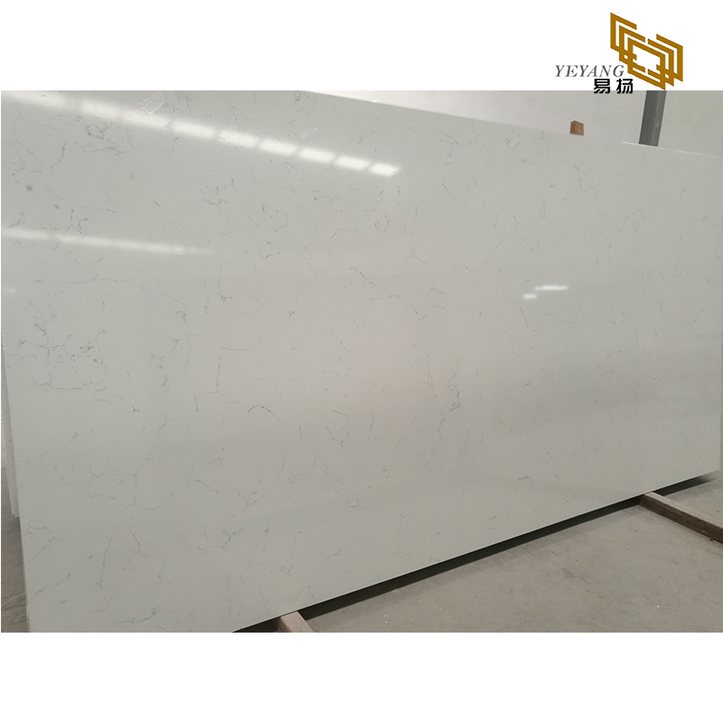 Middle white quartz slabs stone quartz countertops for kitchen enginnering