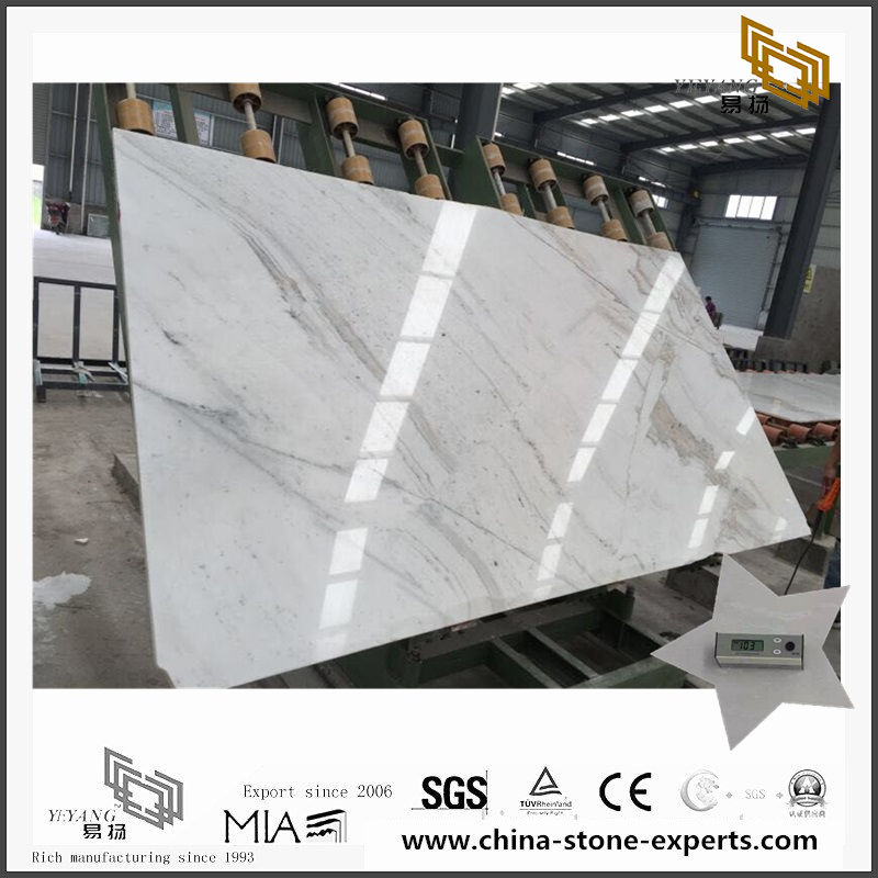 New Polished Castro White Marble Slab for Countertop with best prices (YQW-MSA071105)