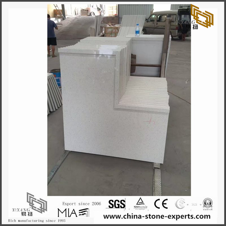Quality White Quartz Countertop for Home Decoration(YQW-QC101505)