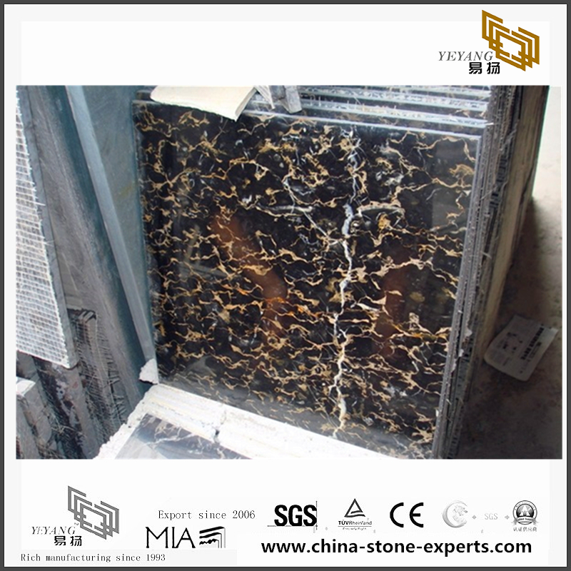 Beautiful Portoro Gold Marble Stone for Wall Backgrounds & Floor Tiles(YQN-092801)