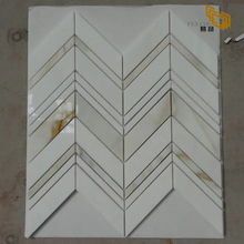 High Quality Fashion Design marble mosaic herringbone tile for Wall Decoration