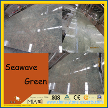 Popular Seawave Green Granite Slabs for Countertops / Wall