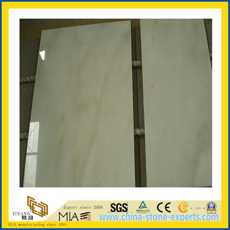 Polished Stone White Jade Marble Slabs for Countertop/Vanitytop (YQC)