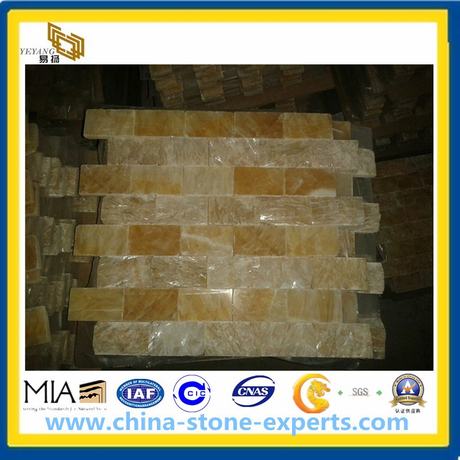 Honey Onyx Marble for Mosaics, Tile, Slab, Sink, Tops (YYAZ)