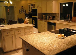 Venetian Gold Granite Kitchen Countertop Project -YEYANG STONE FACTORY