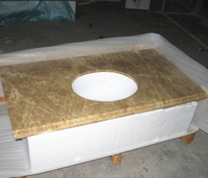 light emperador marble vanity top project