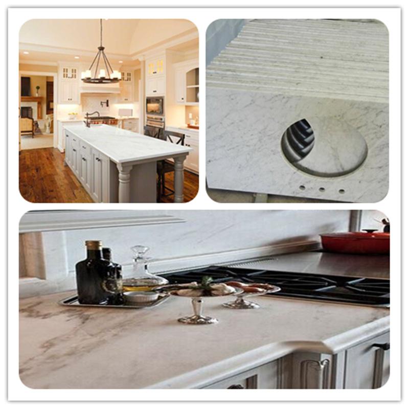 004 Castro White marble countertops
