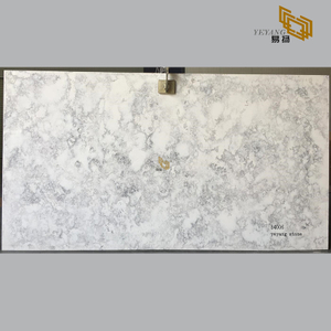 Grey quartz stone for bathroom and kitchen countertops (B4006)