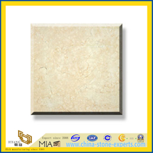 Polished Natural Stone Galala Beige Marble Slabs for Wall/Flooring (YQC)