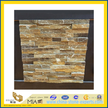 Natural Rust Slate Cultured Stone, Wall Cladding for Exterior / Interior (YQA-S1037)