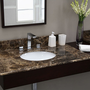 Brown Marble Countertops for Bathroom