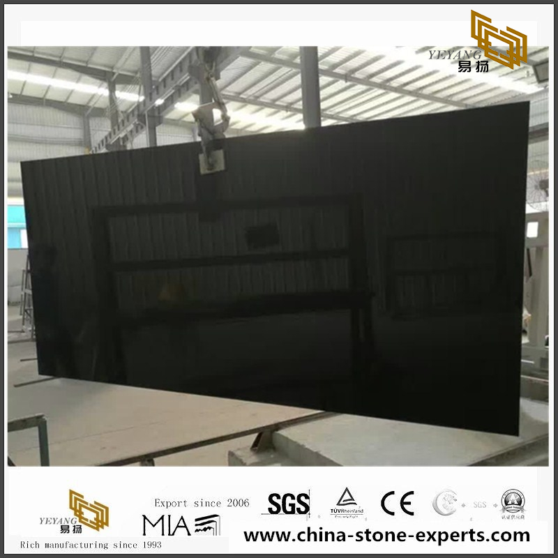 Artificial Stone / Natural Black Quartz Slab for Kitchen and Bathroom