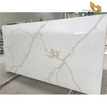Grey thick lines calacatta white artificial stone quartz slabs factory outlet nt-304