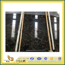 Italy Portoro Black Marble Slab for Countertop and Floor Tiles