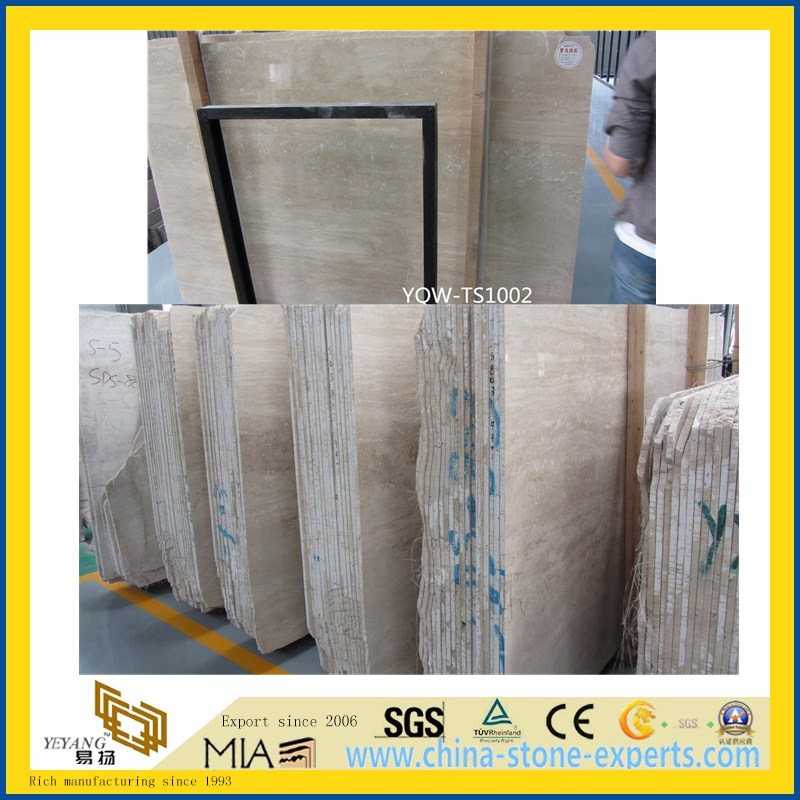 Roman Travertine Slab for Hotel Wall & Floor Tile or Countertops