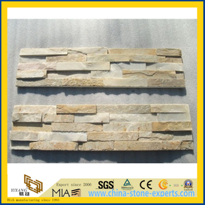 Light Yellow Quartzite Culture Stone / Stacked Stone / Stacking Stone