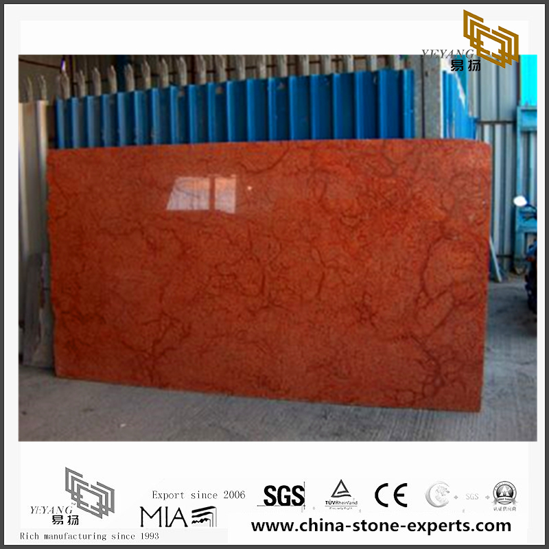 Beautiful Rosso Verona Marble Tiles for Floor design(YQN-100604)