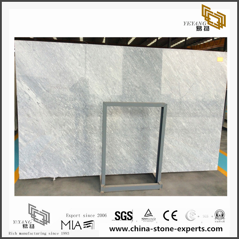 Background is installed with Roman Ice Grey marble(YQN-091204)